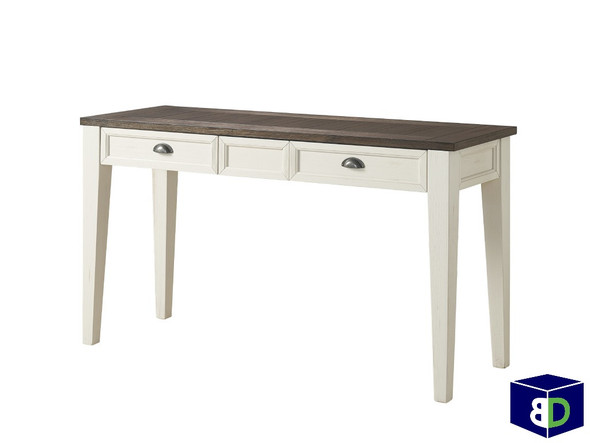Craft Sofa Table Dark Oak, White