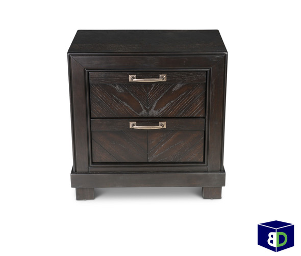 Billings 2 Drawer nightstand dark oak