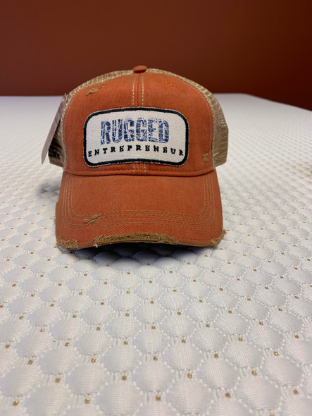 Rugged Entrepreneur Hat - Orange