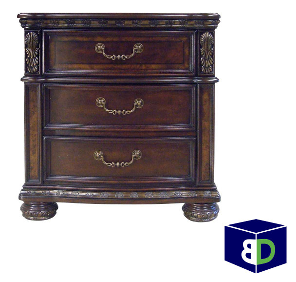 Riveria 3-drawer Nightstand, with USB port