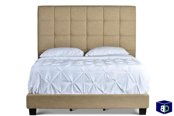 Bronx Upholstered Sand Bed Frame, Queen