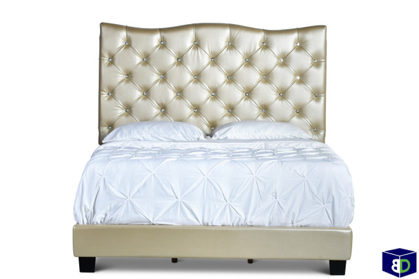 Maxwell Gold Bed Frame, Queen
