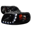 1997-2004 Ford F-150/ 1997-2002 Expedition Projector Headlights w/ SMD LED Light Strip (Black Housing/Smoke Lens)