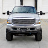 1999-2004 Ford F-250/F-350/F-450/F-550/Excursion Projector Headlights w/ SMD LED Light Strip (Chrome Housing/Clear Lens)