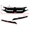 2016-2018 Honda Civic FK8 Factory Style Glossy Black ABS Mesh Grille w/ Eyebrows