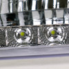 1999-2004 Ford F-250/F-350/F-450/F-550/Excursion Factory Style Headlights w/ SMD LED Light Strip (Chrome Housing/Clear Lens)