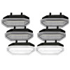2015-2017 Ford Mustang White LED Front Grille DRL Driving Lights Lamps 6PC (Clear)