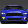 2015-2017 Ford Mustang Front Grille LED Driving Lights - 6PC (Chrome Housing/Clear Lens)