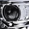 2015-2020 Chevrolet Tahoe Suburban/ 2016-2019 Suburban 3500HD LED C-Bar Projector Headlights w/ LED Turn Signal Lights (Chrome Housing/Clear Lens)