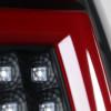1999-2002 Chevrolet Silverado/ 1999-2003 GMC Sierra Red Bar LED Tail Lights - G2 (Black Housing/Clear Lens)