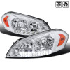 2006-2015 Chevrolet Impala/Monte Carlo Factory Style Crystal Headlights w/ SMD LED Light Strip (Chrome Housing/Clear Lens)