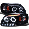 1997-2004 Ford F-150/ 1997-2002 Expedition Dual Halo Projector Headlights (Glossy Black Housing/Smoke Lens)
