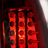1999-2002 Chevrolet Silverado/ 1999-2003 GMC Sierra LED Tail Lights (Chrome Housing/Red Clear Lens)