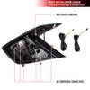 2016-2020 Honda Civic Sedan V2 LED Tail Lights w/ Sequential Turn Signal Lights (Glossy Black Housing/Smoke Lens)