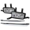 2015-2020 Chevrolet Tahoe/Suburban H8 Fog Lights Kit (Chrome Housing/Clear Lens)