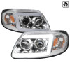 1997-2004 Ford F-150/Expedition Projector Headlights w/ LED DRL Tube (Chrome Housing/Clear Lens)