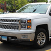 2014-2015 Chevrolet Silverado 1500 LED Bar Factory Style Headlights (Matte Black Housing/Clear Lens)