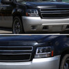 2007-2013 Chevrolet Avalanche/ 2007-2014 Tahoe Suburban LED C-Bar Projector Headlights -RS (Matte Black Housing/Clear Lens)