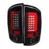 2002-2006 Dodge RAM 1500 2500 3500 LED Tail Lights -G2 (Jet Black Housing/Clear Lens)