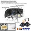 2001-2006 GMC Yukon + XL Denali/ 2002-2006 GMC Sierra Denali Dual Halo Projector Headlights w/ Bumper Lights (Chrome Housing/Clear Lens)