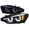 2012-2015 F30 3 Series Sedan Dual U-Bar Projector Headlights w/ LED Turn Signal Lights (Chrome Housing/Smoke Lens)