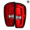 2016-2021 Toyota Tacoma LED Bar Tail Lights (Chrome Housing/Red Clear Lens)