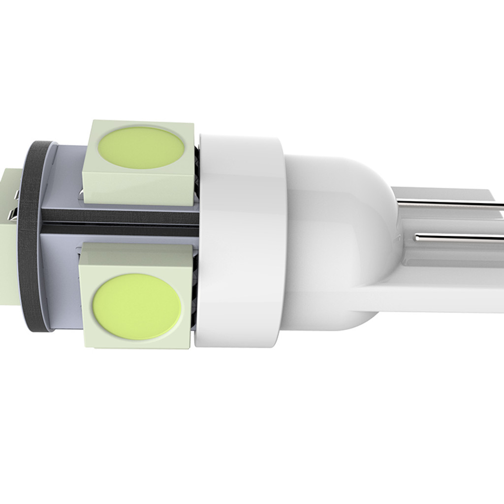 5 SMD T10 LED Light Bulbs 2-Pieces - White