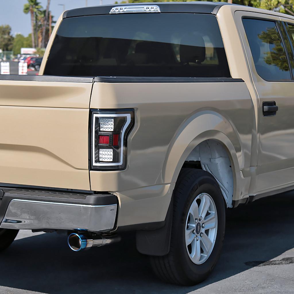 2015-2018 Ford F-150 Front & Rear Mud Flaps Splash Guards w/o Fender Flares
