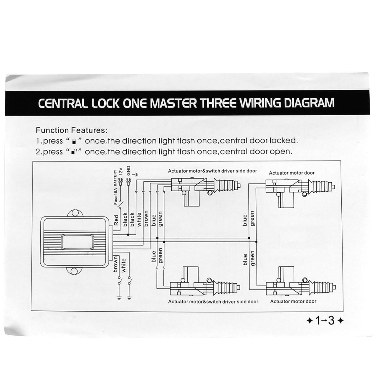 Universal Remote Keyless Power Door Lock/Unlock Entry Kit w/ 4-Function  Remote Controls - Spec-D Tuning | Spec D Wiring Diagrams Of Lights |  | Spec-D Tuning