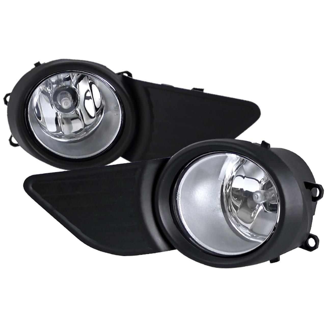 Fog Light Trim Set For 2011-2017 Toyota Sienna Left /& Right Black and Chrome 2Pc