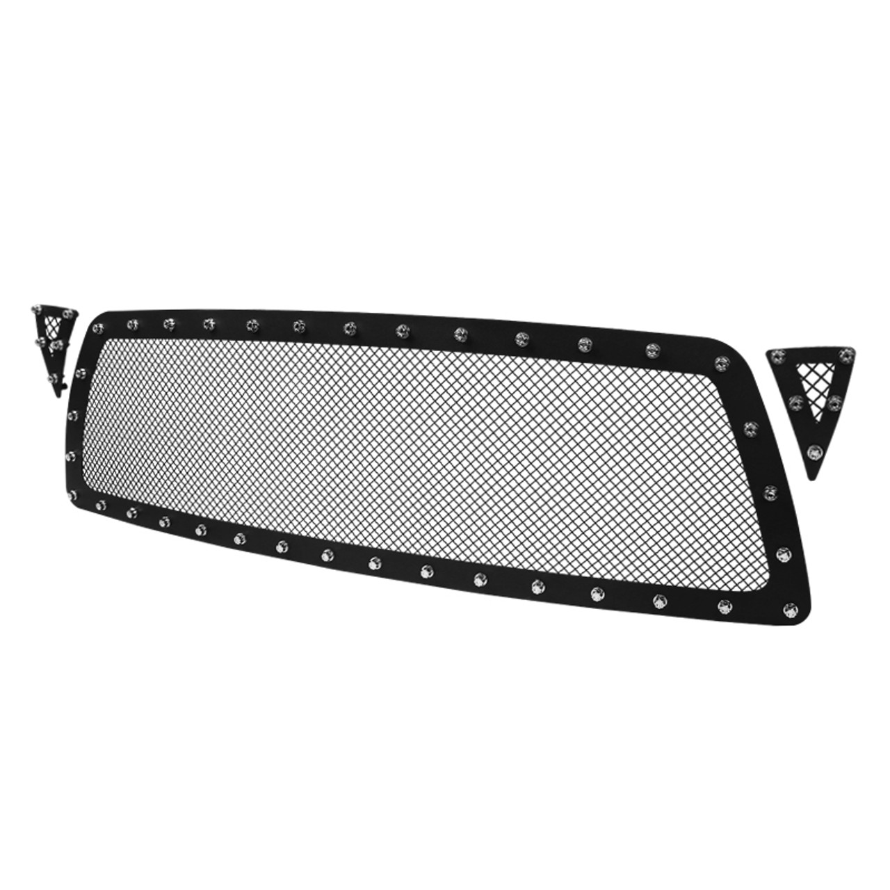 APS Compatible with 2005-2010 Tacoma TRD Sport Stainless Steel Polished Chrome 8x6 Horizontal Billet Grille Insert Combo T87742S