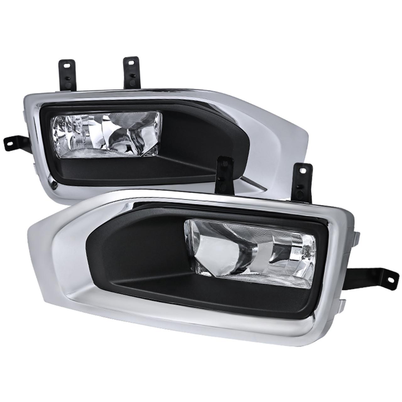 2015 2018 Gmc Yukon Yukon Xl H3 Fog Lights Kit Chrome Housing Clear Lens Spec D Tuning