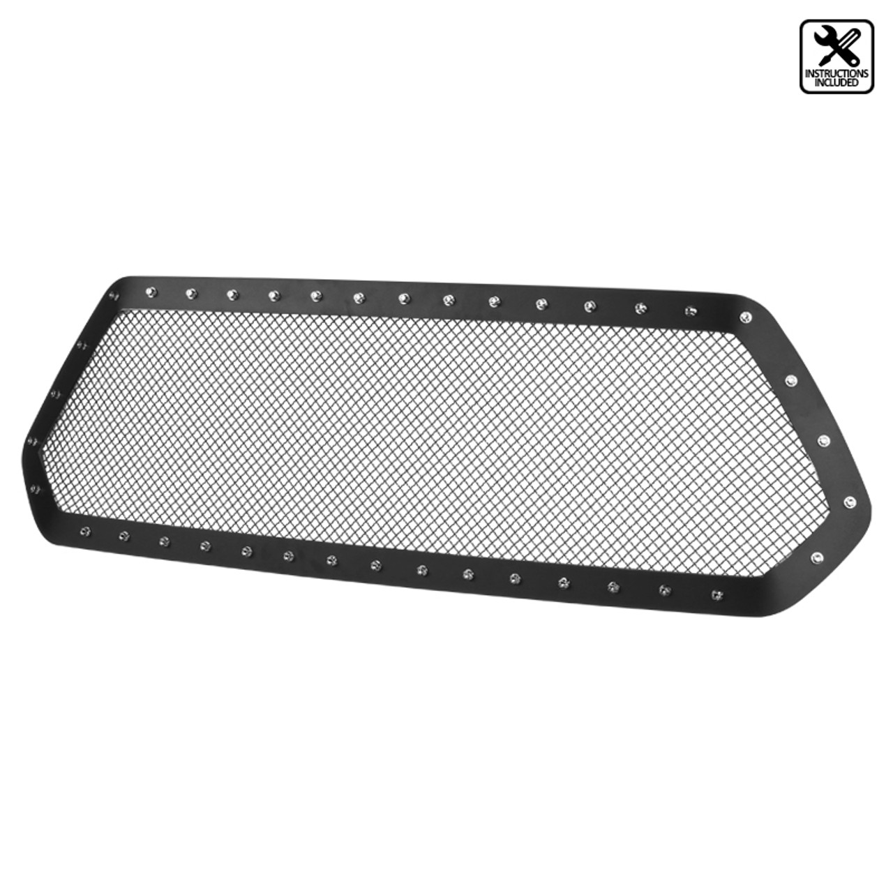 APS Compatible with 2012-2015 Tacoma Stainless Steel X Mesh Grille Insert S18-S7396XT