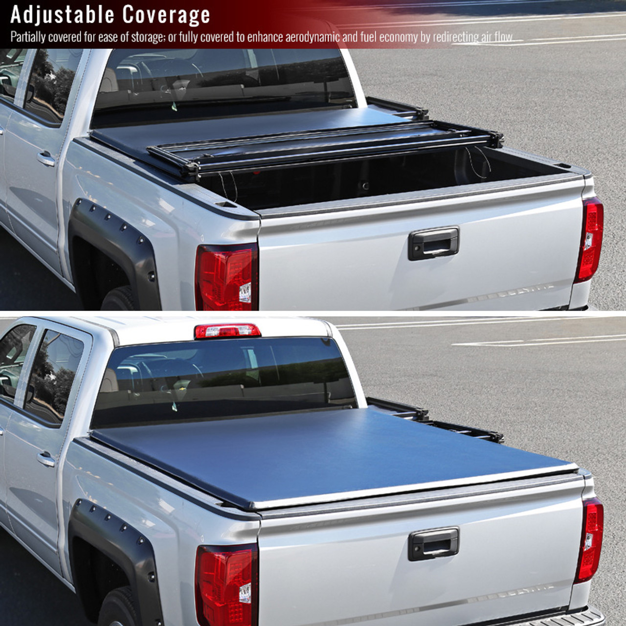 2005 2015 Toyota Tacoma Double Cab 5 60 Short Bed Tri Fold Tonneau Cover Spec D Tuning
