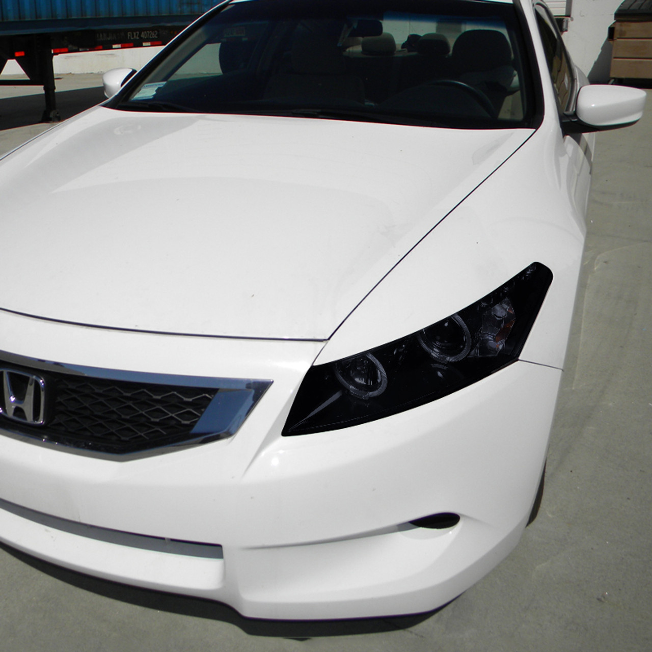2008 2012 Honda Accord Coupe Dual Halo Projector Headlights Glossy Black Housing Smoke Lens Spec D Tuning