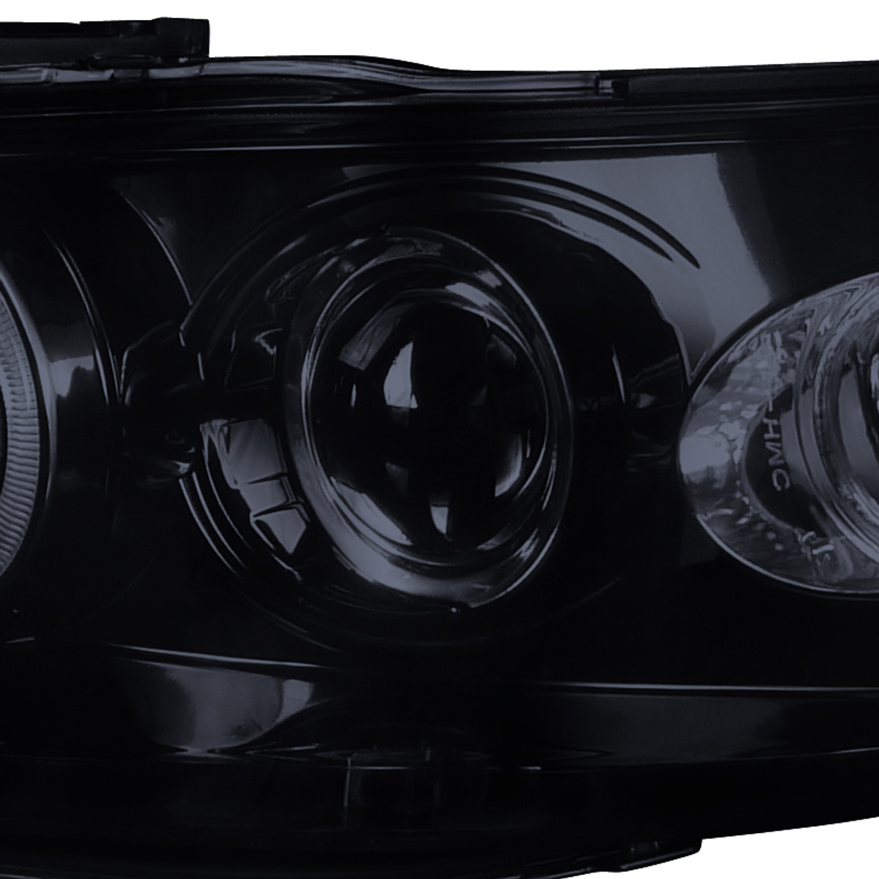 1998 2002 Honda Accord Dual Halo Projector Headlights W Led Drl Glossy Black Housing Smoke Lens Spec D Tuning