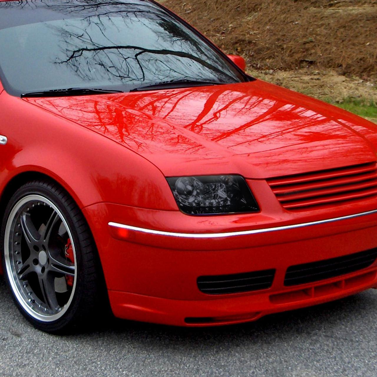 1999 2004 Volkswagen Jetta Bora R8 Style Led Drl Projector Headlights Glossy Black Housing Smoke Lens Spec D Tuning