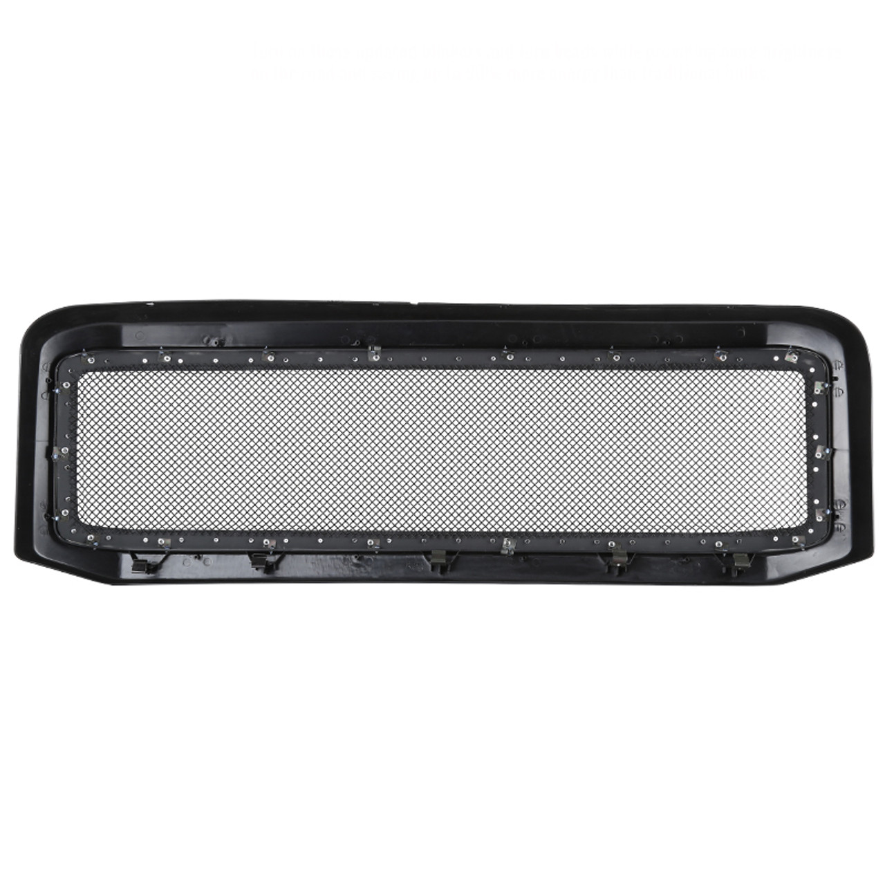 Gofavorland Front Grille Glossy Black Rivet Grill for Ford F250 F350 F450 F550 2005 2006 2007 Super Duty