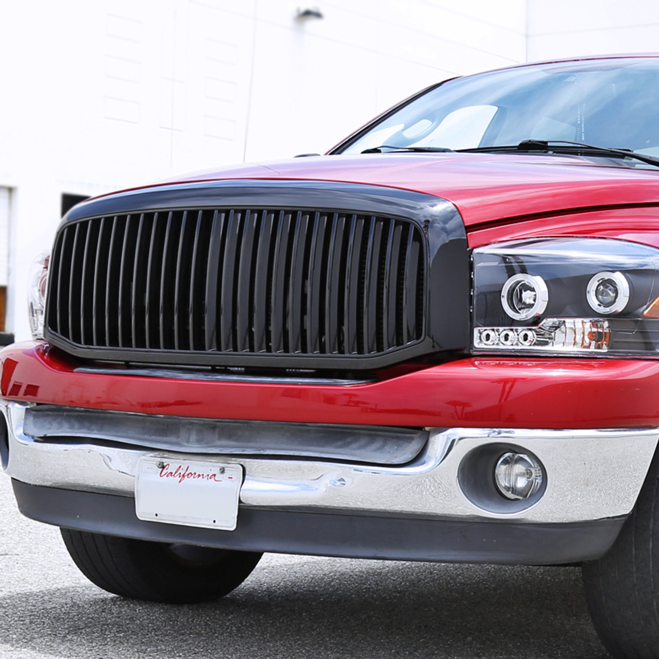 Body Black ABS Plastic Vertical Style Front Grille for Dodge Ram ...