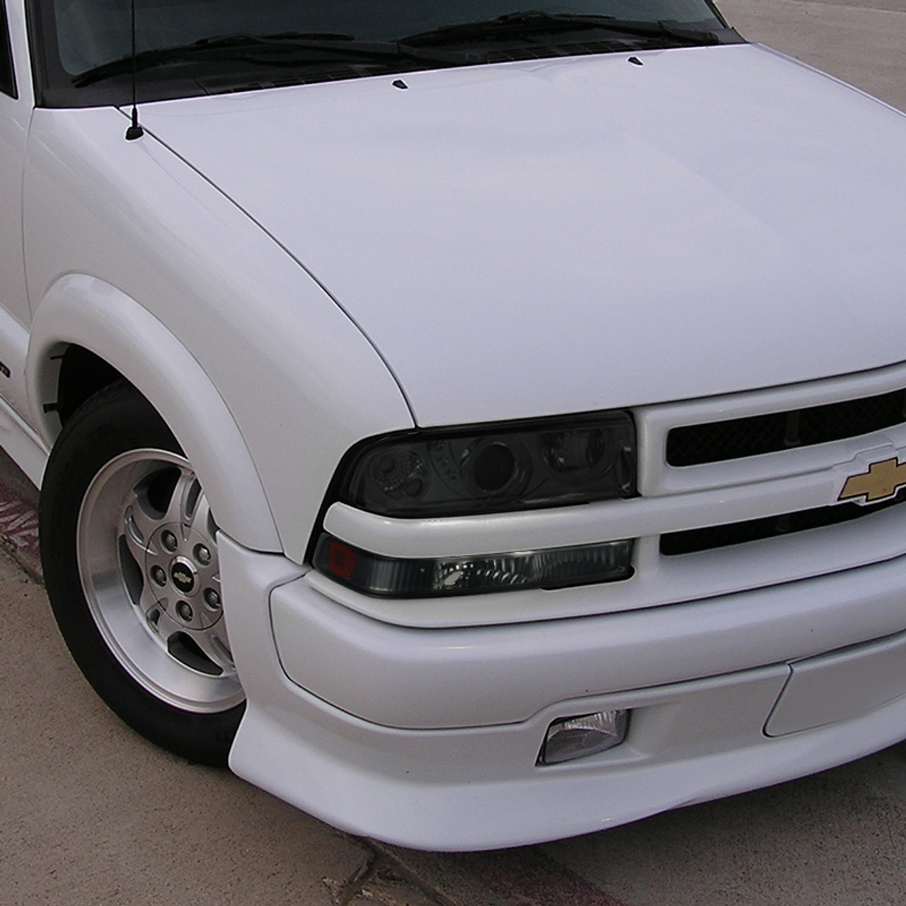 1998 2004 Chevrolet S10 Gmc Sonoma Bumper Lights Chrome Housing Smoke Lens Spec D Tuning