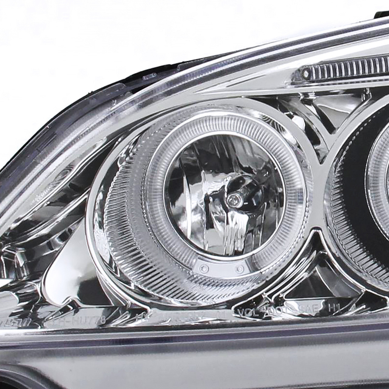 6 inch LED -Chrome Driver side WITH install kit 2006 Honda CIVIC COUPE Post mount spotlight