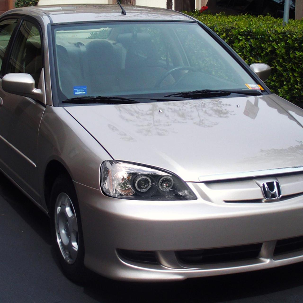 Fits 2001-2003 Honda Civic Pair Head Lights Driver and RH 2dr H//B; Si