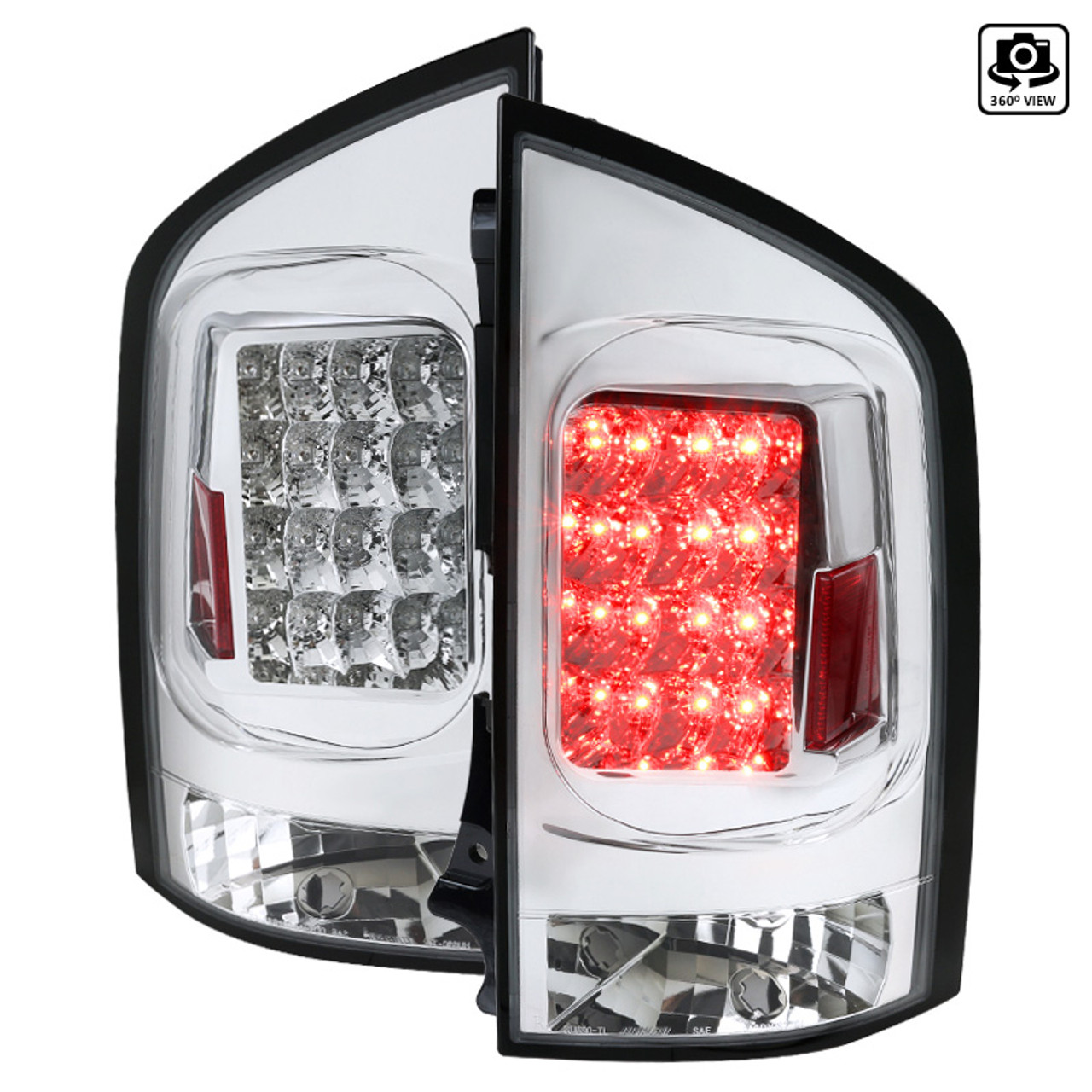 Spec-D Tuning for Armada LED Chrome Tails Light Rear Brake Lamps Parking