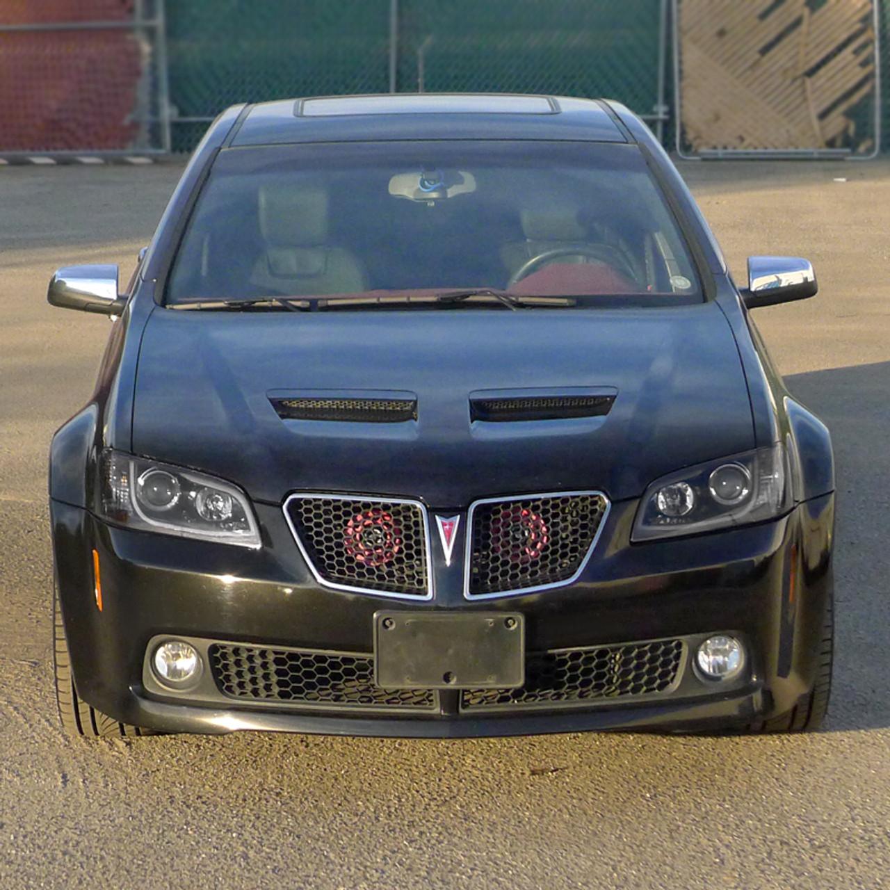 2008 2009 pontiac g8 led projector headlights matte black housing clear lens spec d tuning 2008 2009 pontiac g8 led projector