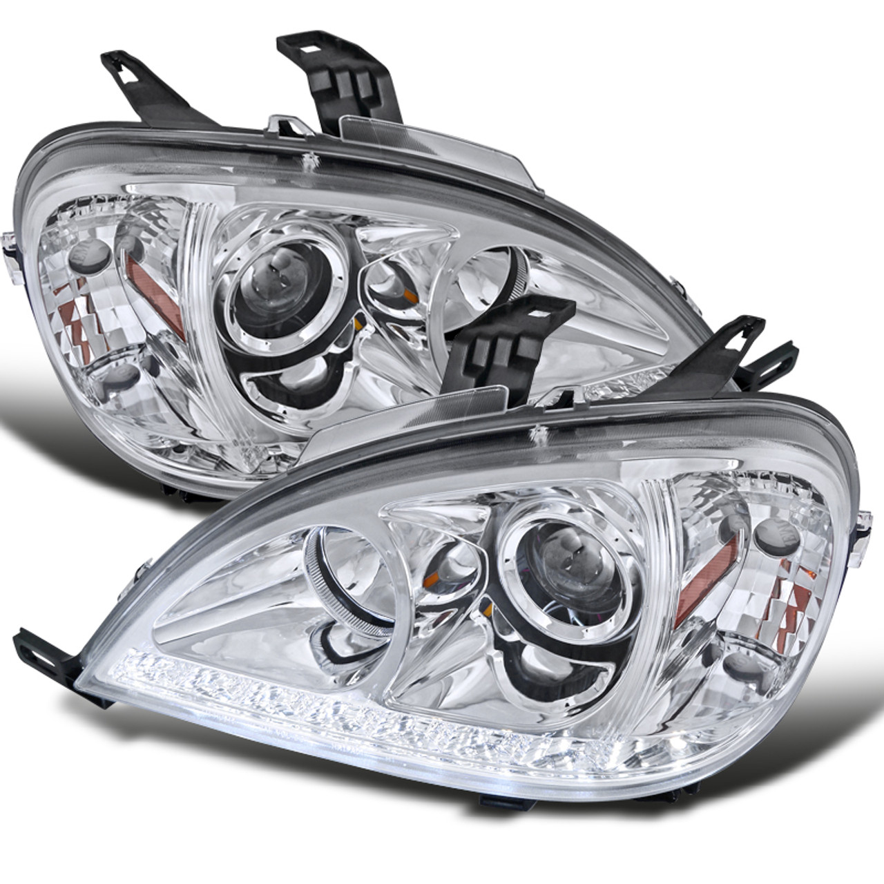 Mercedes Benz ML-Class W163 2005 Chrome Headlight Frames