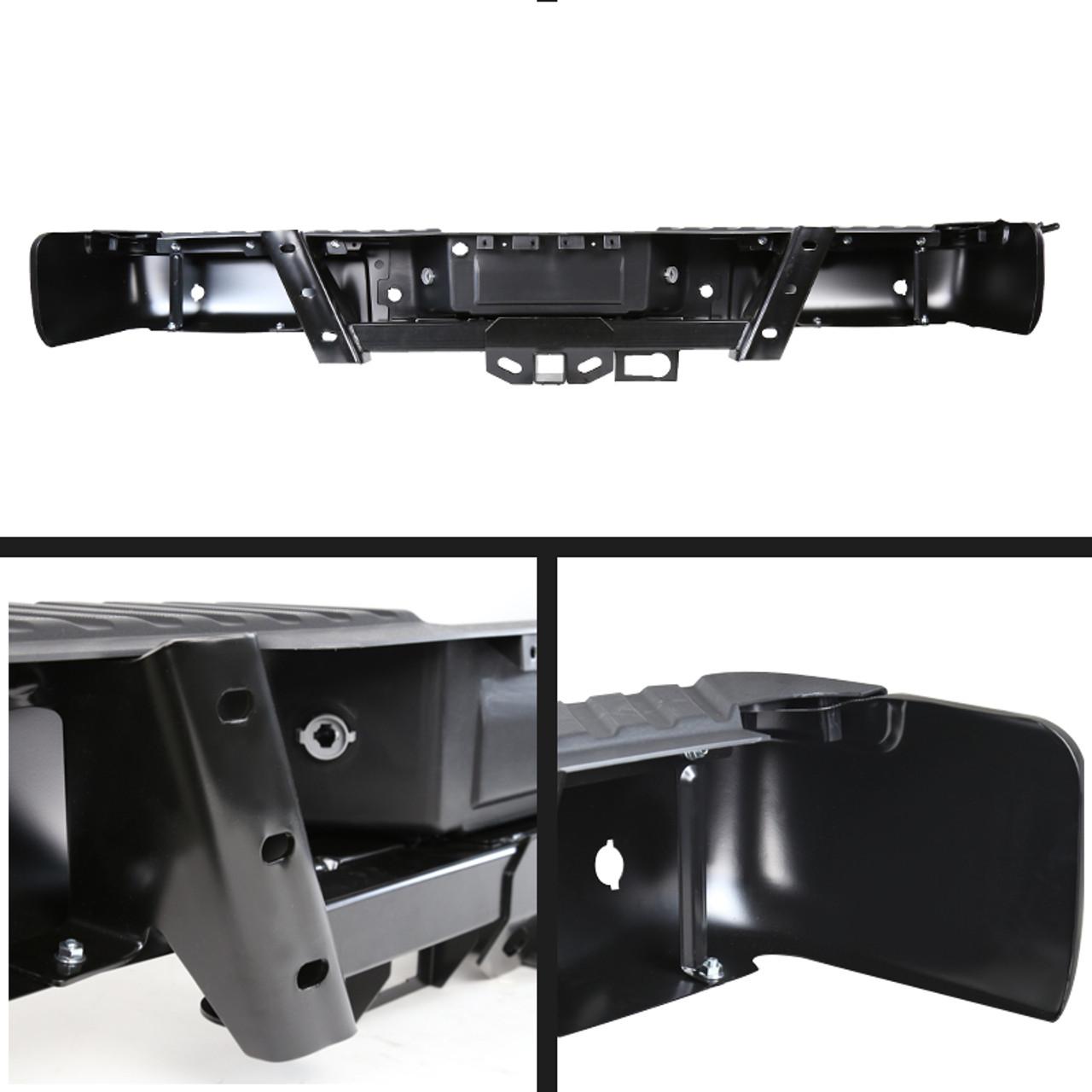 Brackets Lights Set Step Pads For 2009-2014 Ford F-150 Standard//Styleside Bed Rear Bumper No Sensor Hole