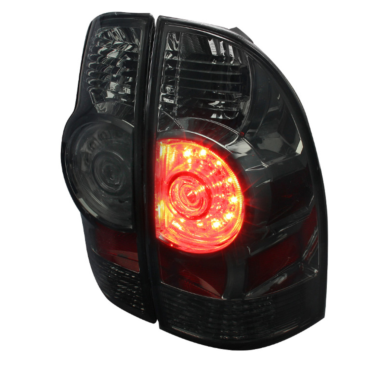 Spec-D Tuning LT-TAC09CLED-RS Chrome Tail Light Led