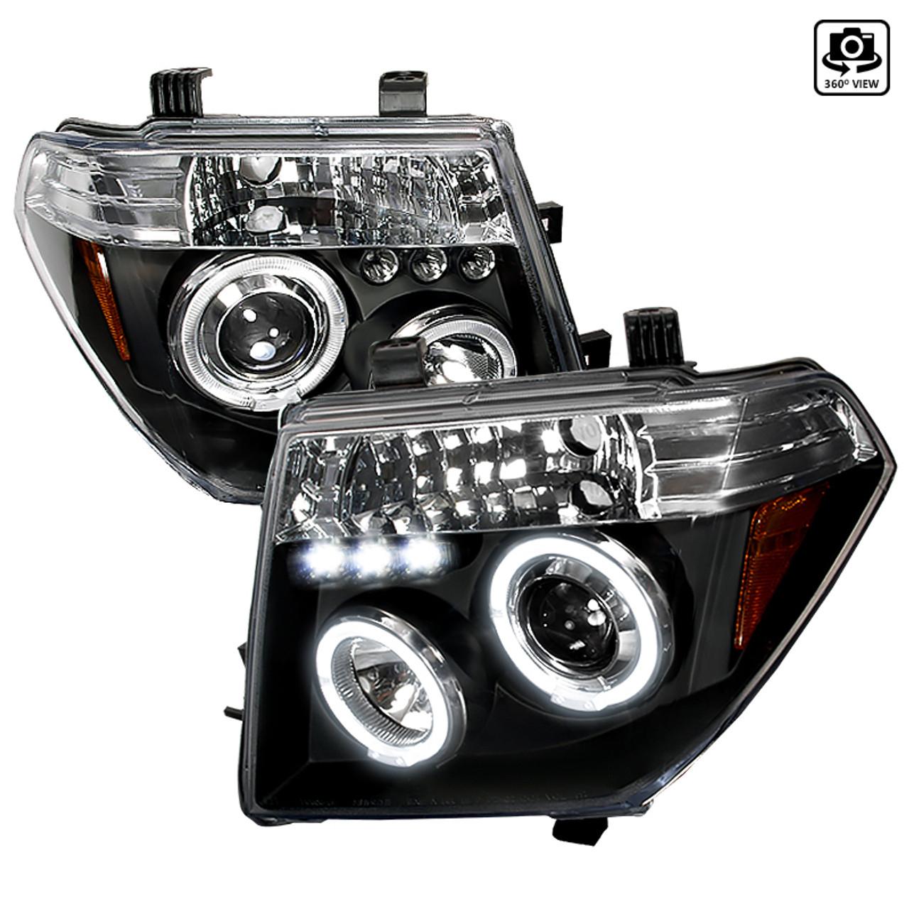 2005 2007 Nissan Pathfinder Dual Halo Projector Headlights W Amber Reflectors Matte Black Housing Clear Lens Spec D Tuning