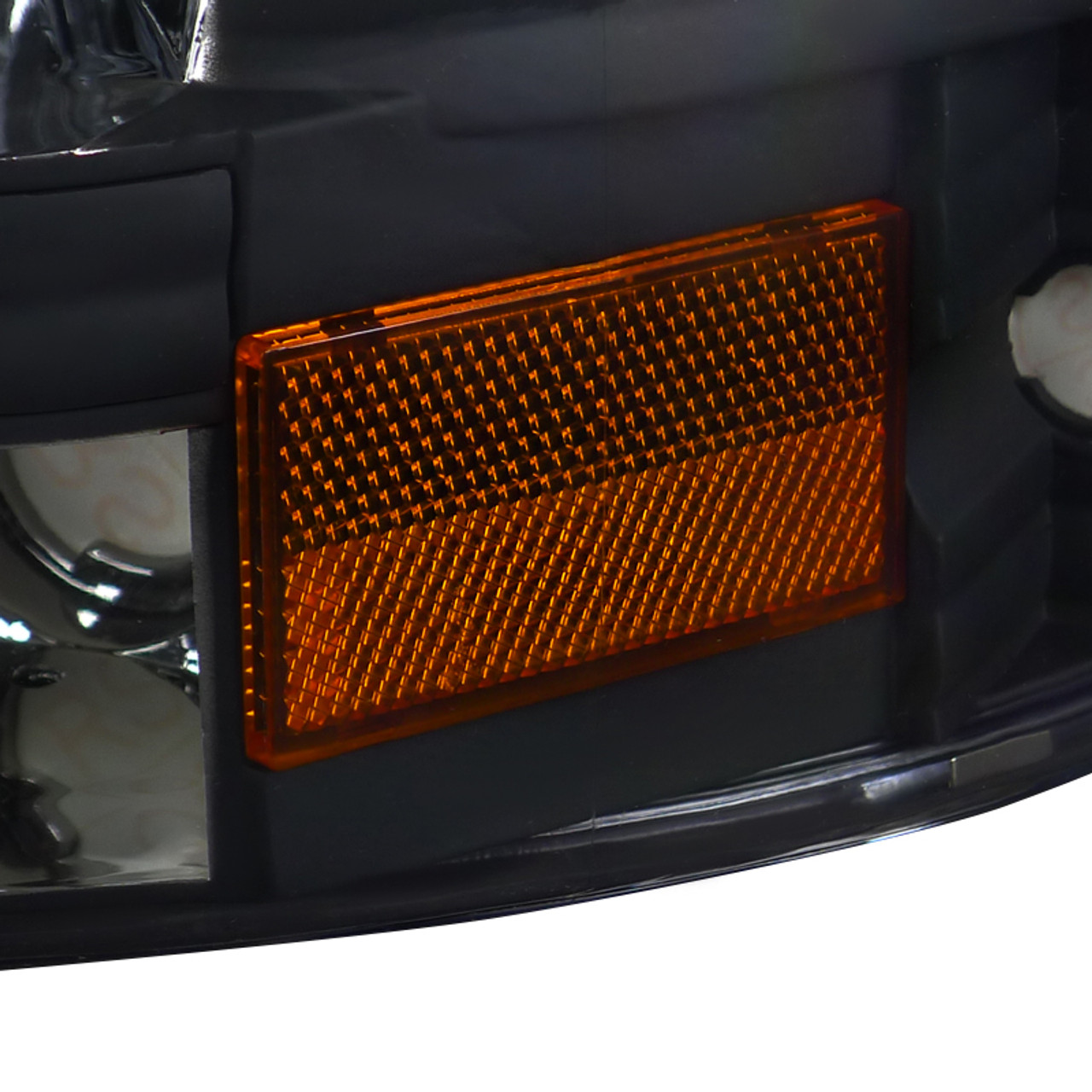 1997 2004 Dodge Dakota Durango Crystal Headlights Matte Black Housing Clear Lens Spec D Tuning