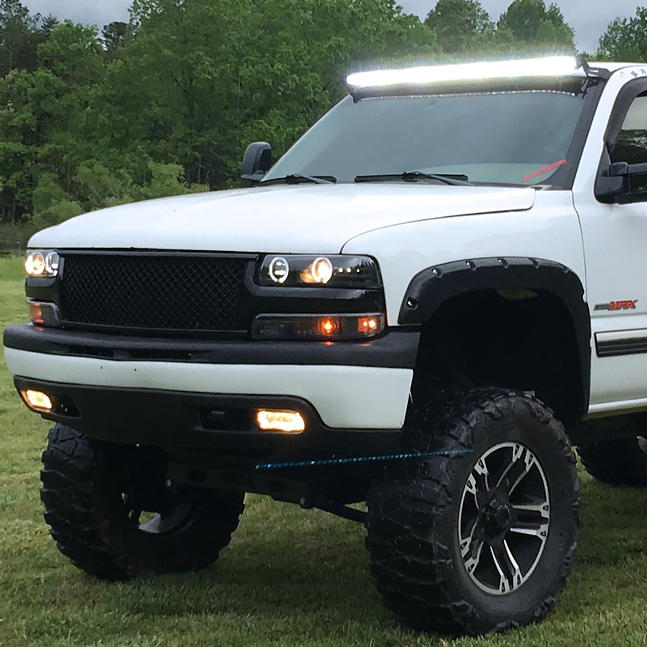 1999-2002 Chevy Silverado 1500 2500 3500 Black Leather Steering Wheel Cover